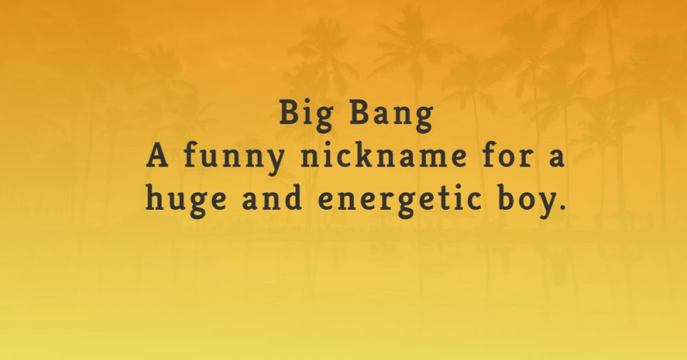 funny nicknames for boys