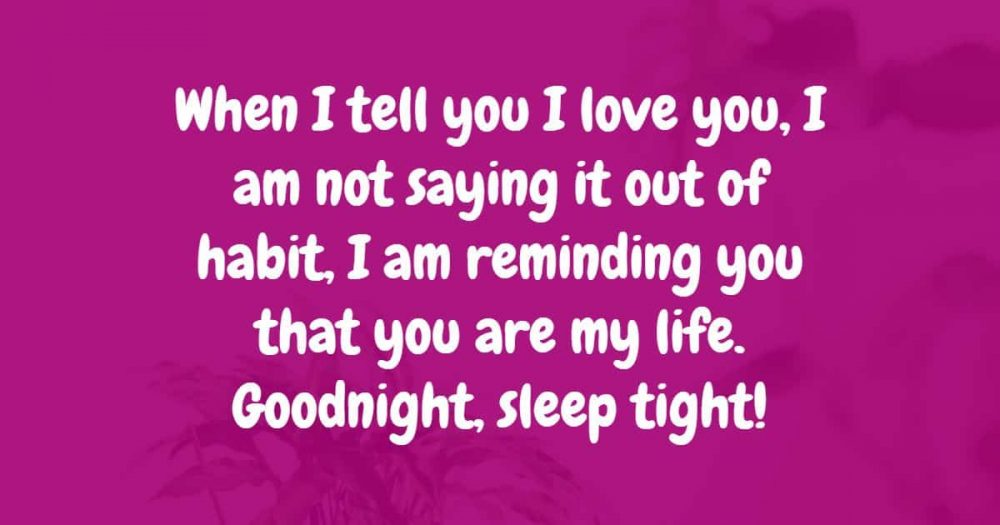 goodnight messages