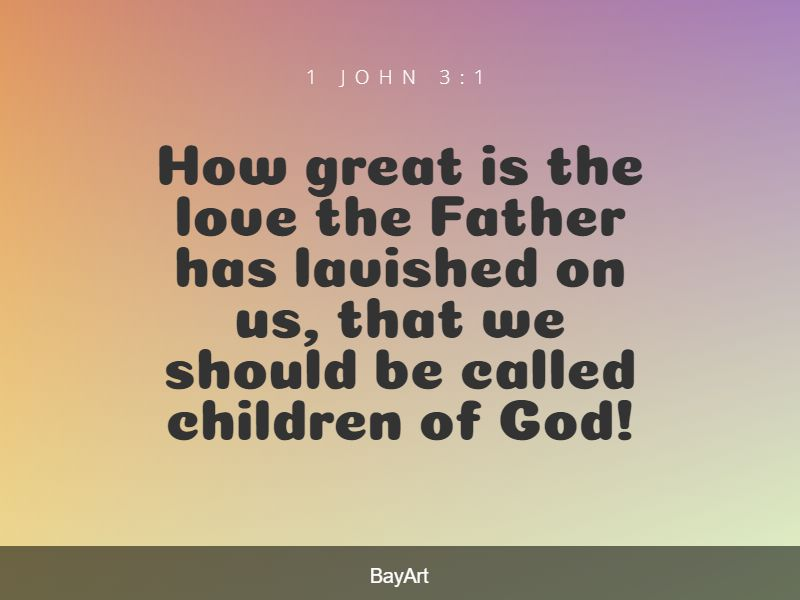 Bible quotes about God's love