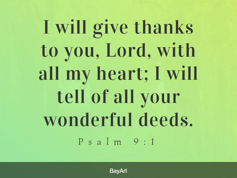 Bible verses about being thankful