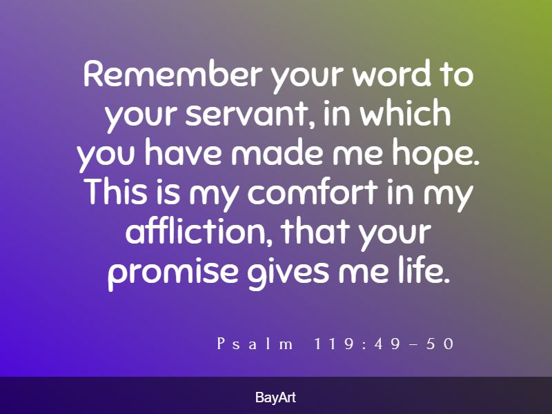 encouraging Bible verses for comfort