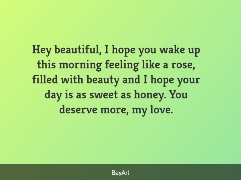 good morning message for a lover