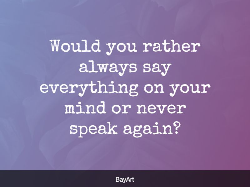 good would you rather questions