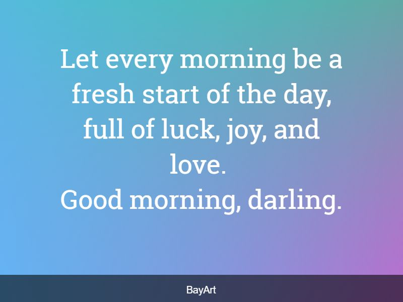 morning message