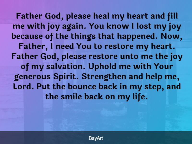 prayers for the brokenhearted
