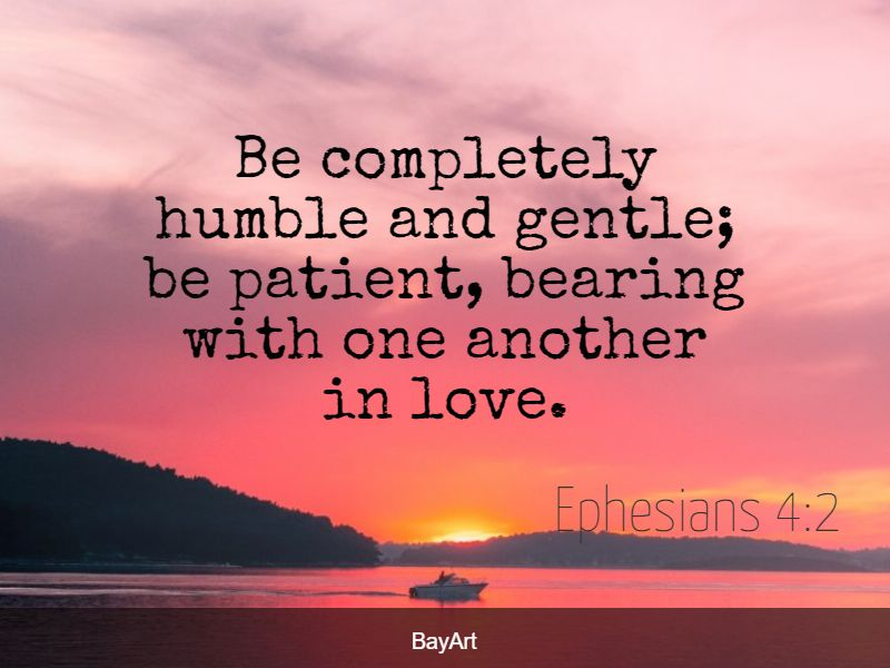 Bible quotes about being humble