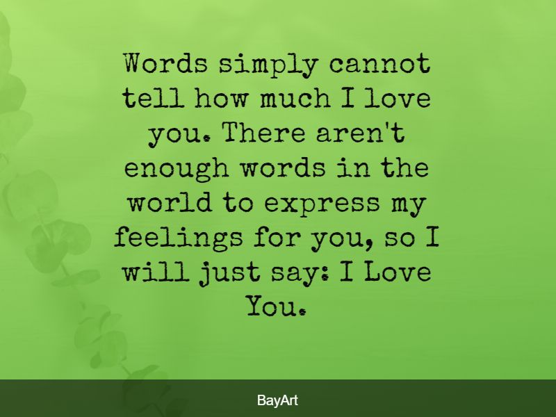 cute romantic words for her