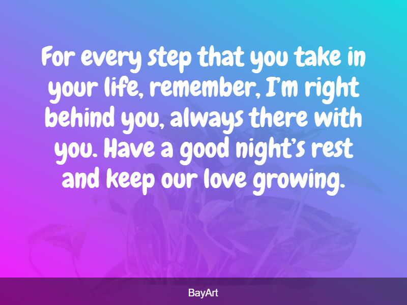 goodnight message for her