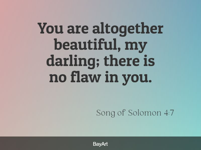 inspirational Bible Verses about Loving Yourself