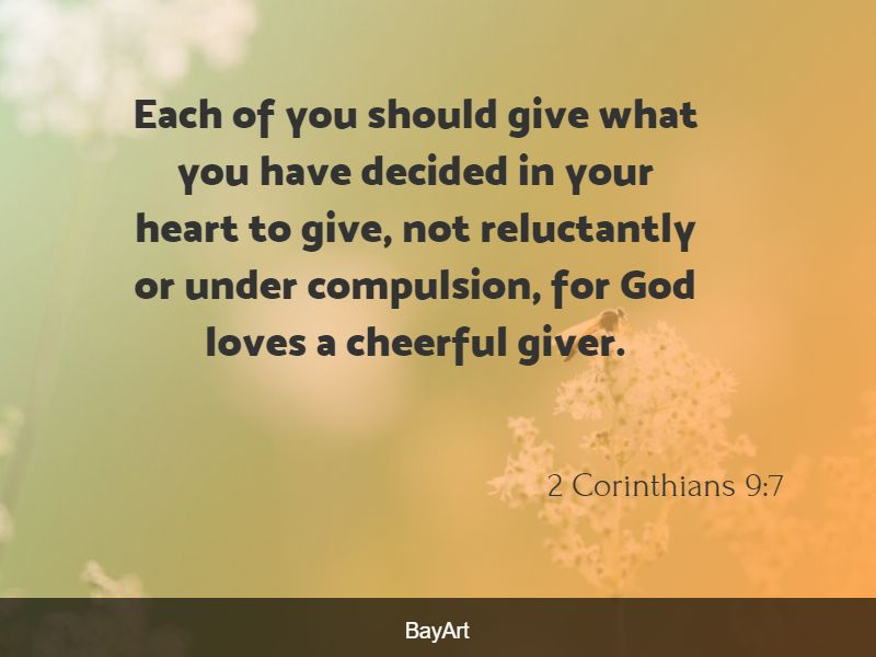 scriptures on giving