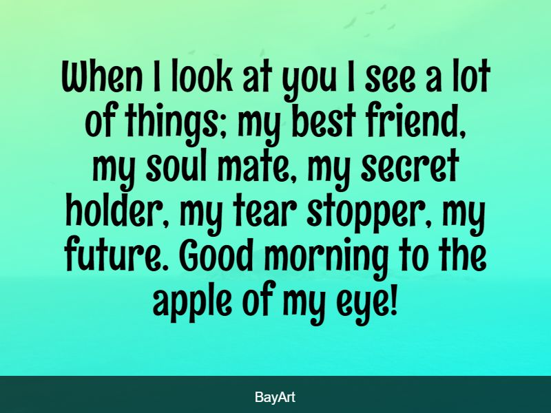 sweet good morning text for him