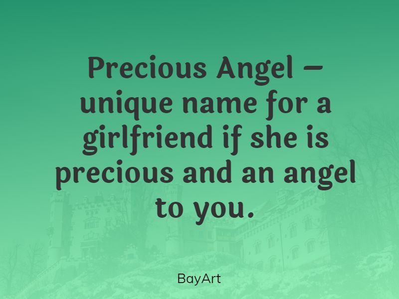 names for your girlfriend