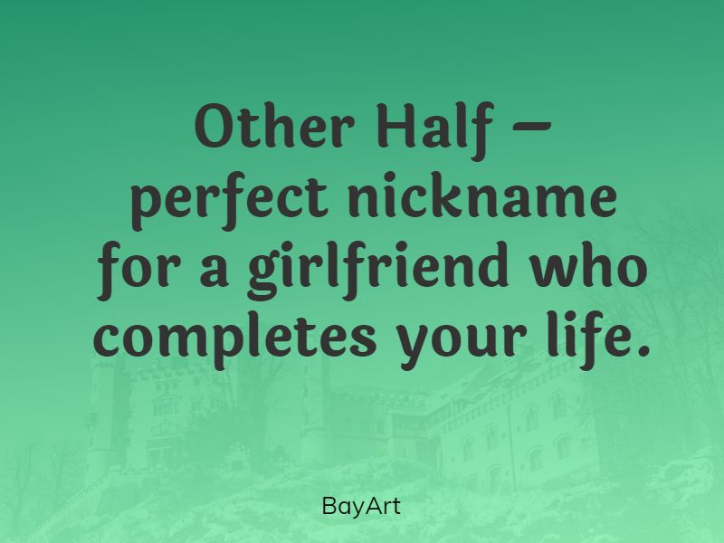 nicknames to call your girlfriend