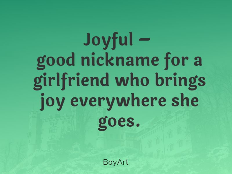 pet names for girlfriend