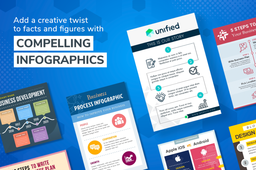 Add a creative twist to facts and figures with compelling infographics