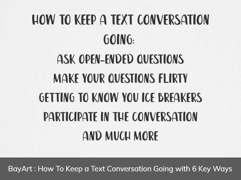 how to keep a conversation going over text