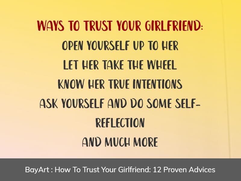 how to trust your girlfriend
