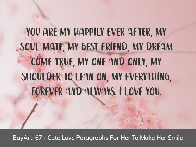 long love paragraphs for her