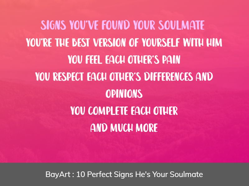 signs he's your soulmate
