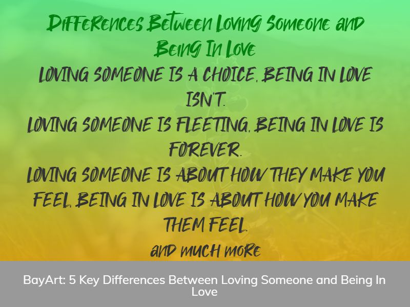 difference between loving someone and being in love